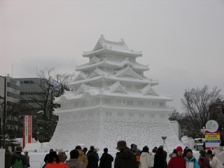 大雪像「名古屋城」